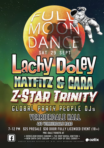 Global Party People DJs at Full Moon Dance September 29th, 2018
