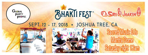 Sri & Joakin at Bhakti Fest - September 12 - 17th, 2018