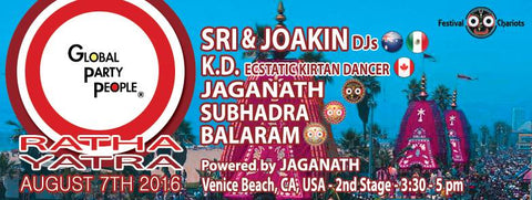Sri & Joakin at Ratha Yatra Festival - Venice California - August 2016