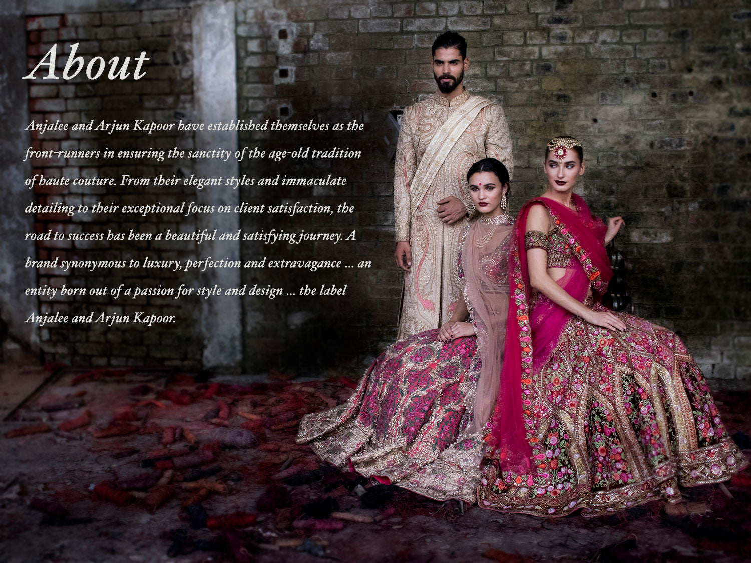 About Us Indian Fashion Designers Anjalee And Arjun Kapoor