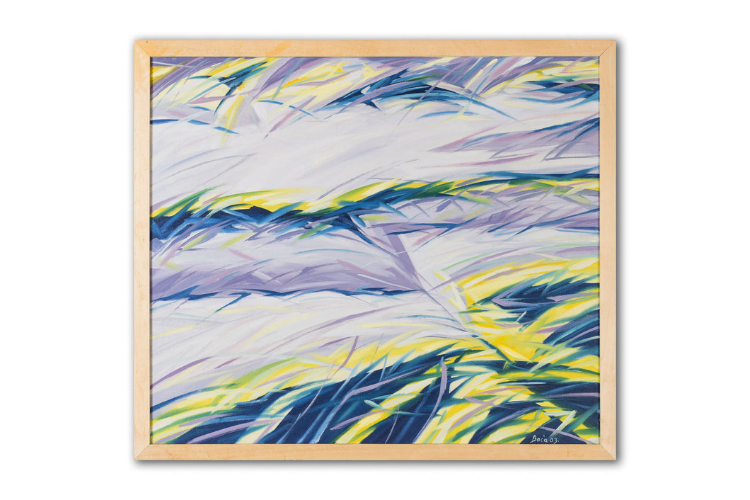 Abstract beach painting 7 (Islands), by Robert Baća.