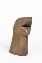 Abstract sculpture by Robert Baća, Heads series, early work, ceramics.