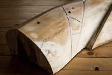 Abstract sculpture by Robert Baća, Islands series, early work, wood.