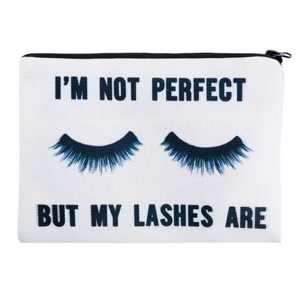 I'm Not Perfect Cosmetic Travel Bag