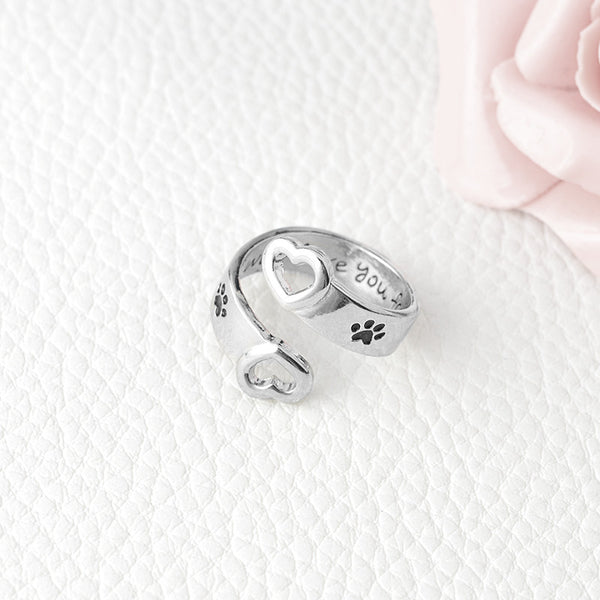 """I Will Love You Forever"" Pet Ring"