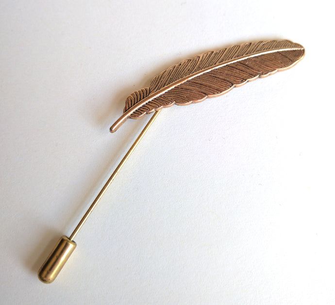 feather lapel pin by Berkeley Squared