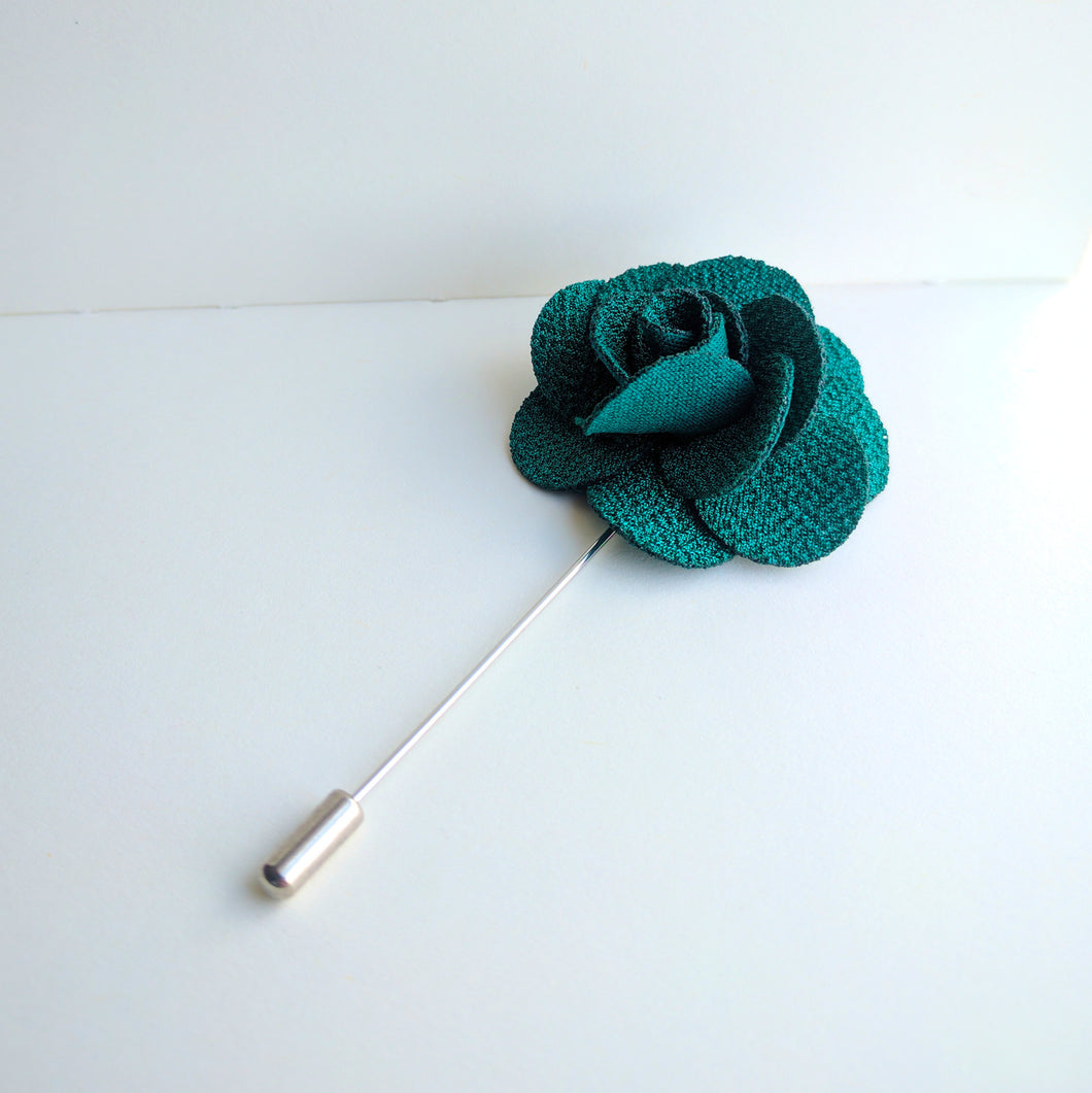 Flower Lapel Pin - Green