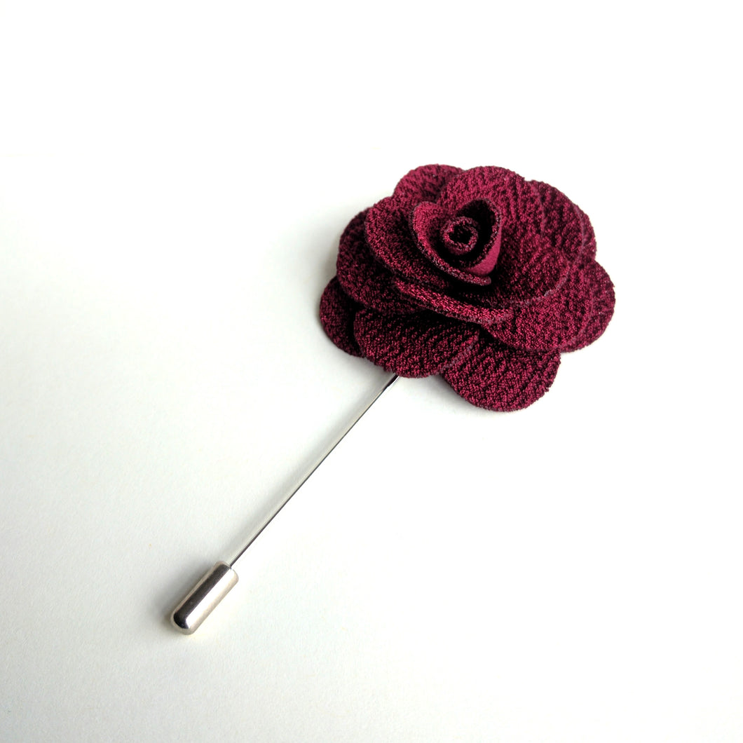 Flower Lapel Pin - Red