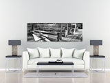 Black and White Church Pew Art Print