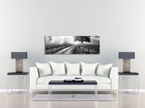 Black and White Country Road Landscape Artwork