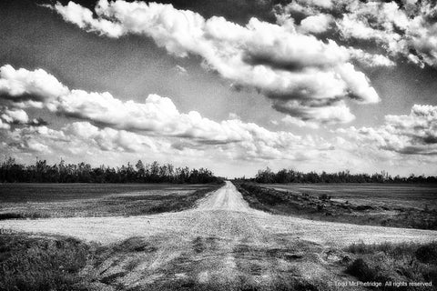 Black and White Crossroads Art Prints for Sale