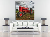 Red Farmall Tractor Wall Art
