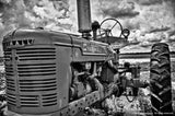 Black and White Tractor Wall Art Prints for Sale