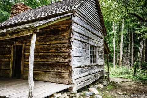 Old Log Cabin Art Print