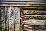 Rustic Log Cabin Art Print