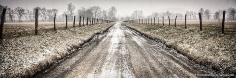 Rustic Snow Covered Road Wall Art for Sale