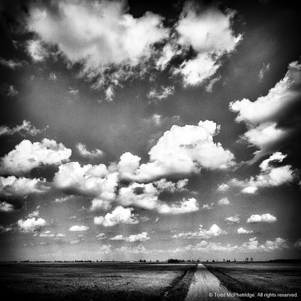 Black and White Dirt Road Art Prints