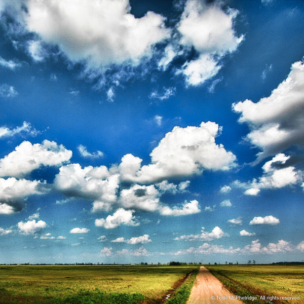 Beautiful Blue Sky and Dirt Road Art Prints for Sale