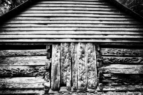 Black and White Old Barn Art Print
