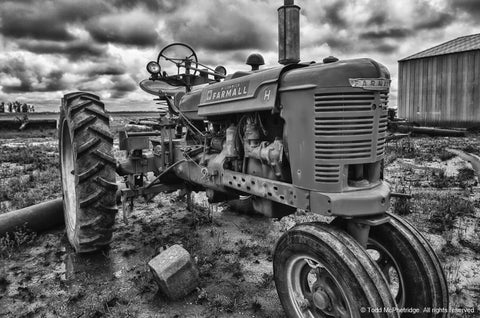 Black and White Farmall Tractor Art Prints