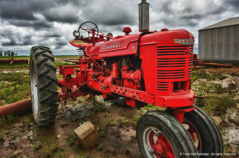 Red Farmall Tractor Art Prints for Sale