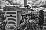 Black and White Farmall Antique Tractor Art Prints