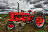 Farmhouse Red Tractor Art Prints