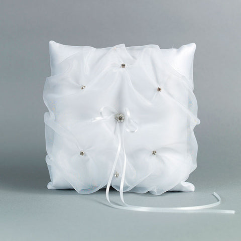Organza Rhinestone Ring Pillow - Annie's showroom