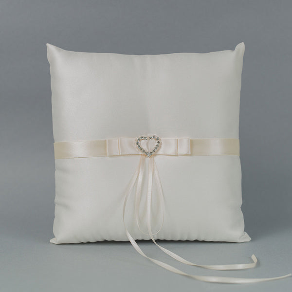 Heart Rhinestone Buckle Ring Pillow - Annie's showroom