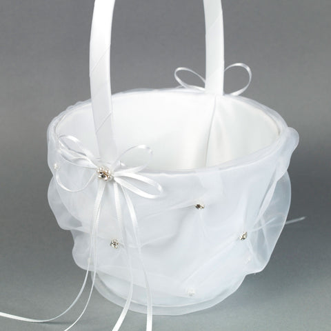 Flower Girl's Basket with organza - Annie's showroom
