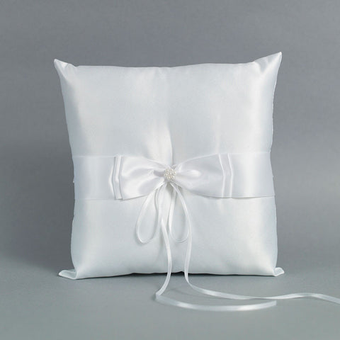 Satin Bow Ring Pillow - Annie's showroom
