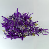 Handmade Bridal Wedding Bouquet and Headpiece: Purple - Annie's showroom