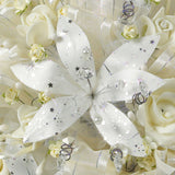 Handmade Bridal Wedding Bouquet and Headpiece: Ivory - Annie's showroom
