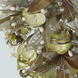 Handmade Bridal Wedding Bouquet and Headpiece: Olive - Annie's showroom