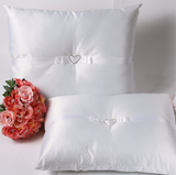 A set of Wedding Kneeling Pillow : Heart Rhinestone Buckle - Annie's showroom