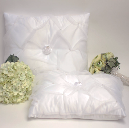 A set of Wedding Kneeling Pillow : Organza Layered - Annie's showroom