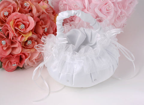Flower Girl's Basket accented with Rhinestone - Annie's showroom