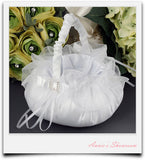 Flower Girl's Basket with Rhinestone Buckle - Annie's showroom