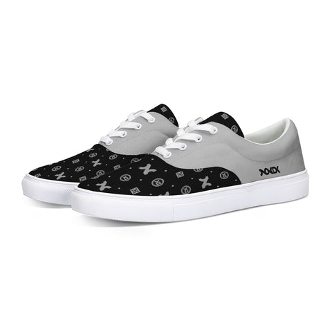 MG2 BLK/GRAY CANVAS LACE UP