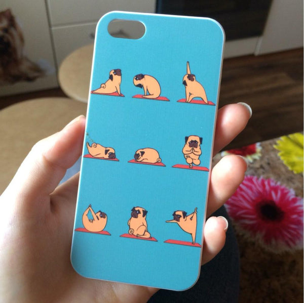 Pug Yoga Case for Iphone
