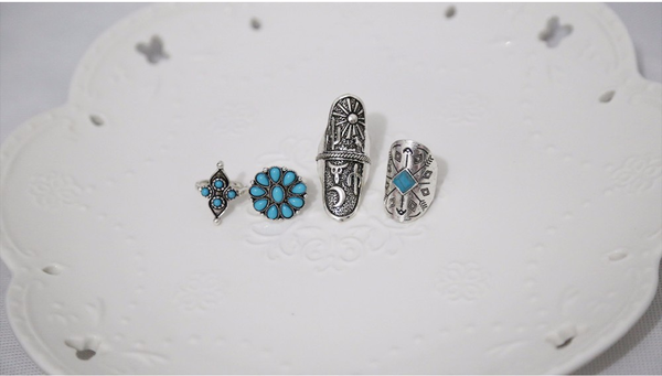 9PCS/Set Vintage Punk Bohemia Ring Set