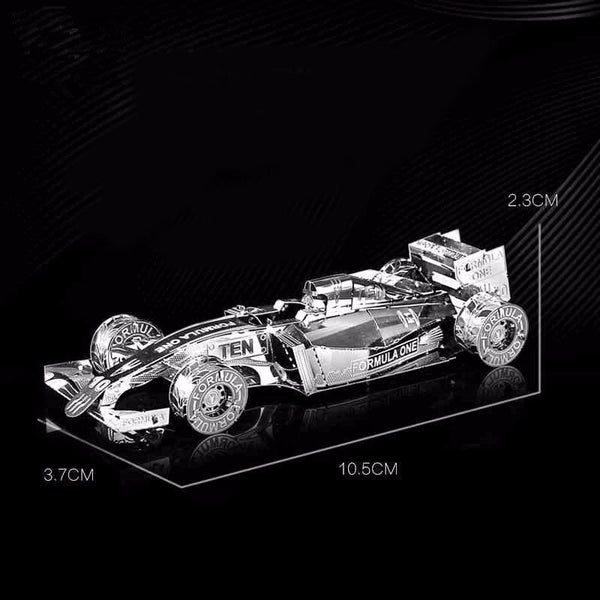 DIY 3D Metal F1 racing cars Models