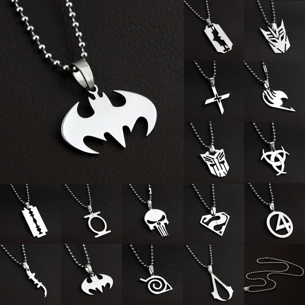 Anime Super Heroes Charming Stainless Steel Silver Necklace