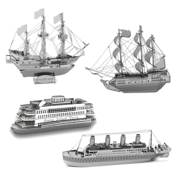 DIY 3D Metal Ships Models