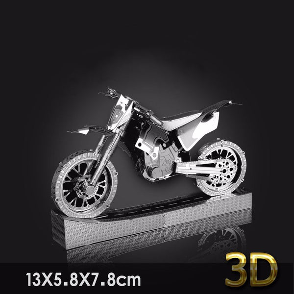 DIY 3D Metal Motorcycle Model