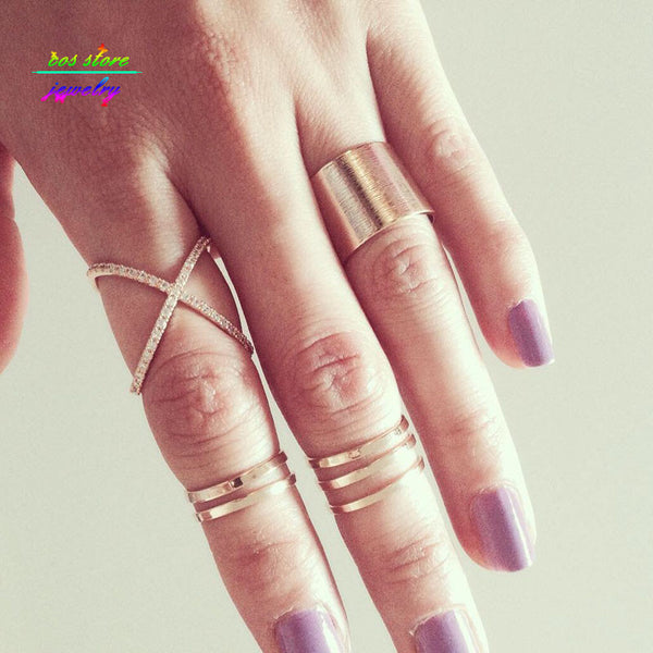 4pcs/Set2016 New Charming Cross Ring Set