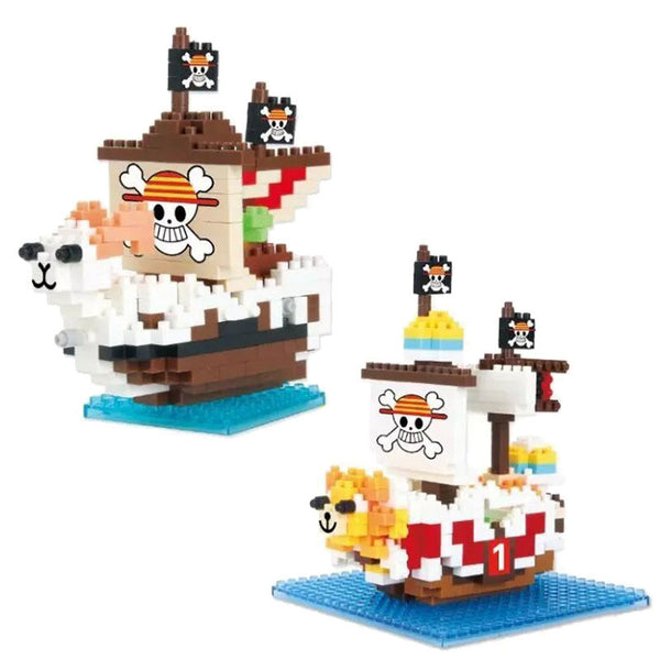 Going Merry and Thousand Sunny Legos to assemble