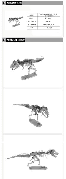 DIY 3D Metal T-Rex Model