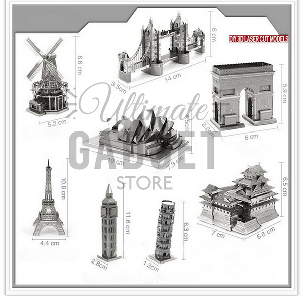 DIY 3D Metal Europe Monuments Models