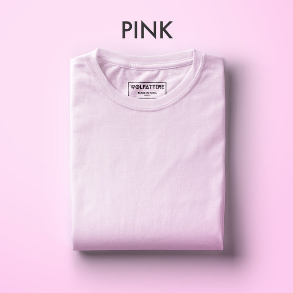 Pink Half Sleeve T-Shirt for Men